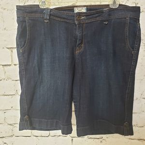 Levi's 542 Bermuda Dark Wash Shorts (18W)